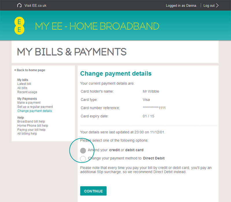 how to pay ee bill