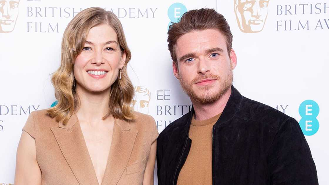 Rosamund Pike and Richard Madden at the EE Rising Star Award jury announcement