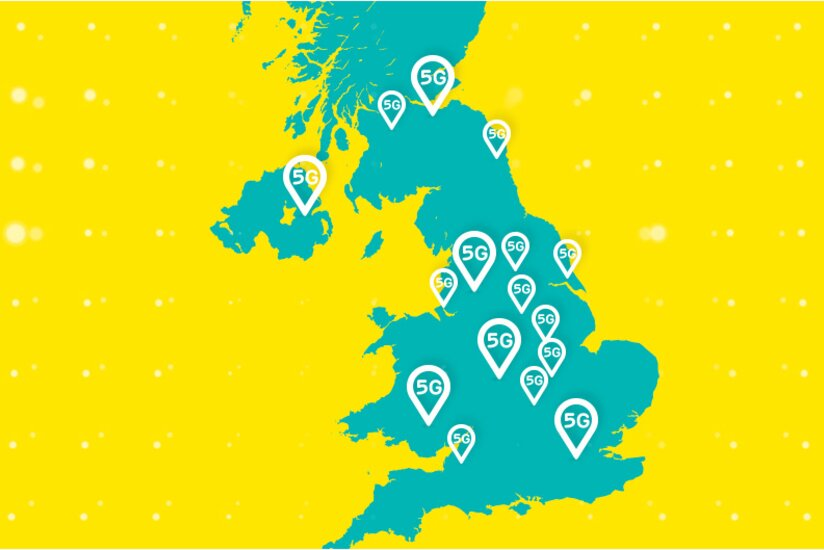 Map Of Just England.5g On Ee The Next Generation Of Mobile Technology