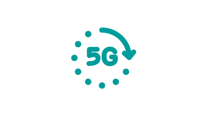 5G icon for speed