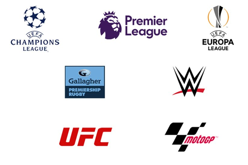Different sport competition logos