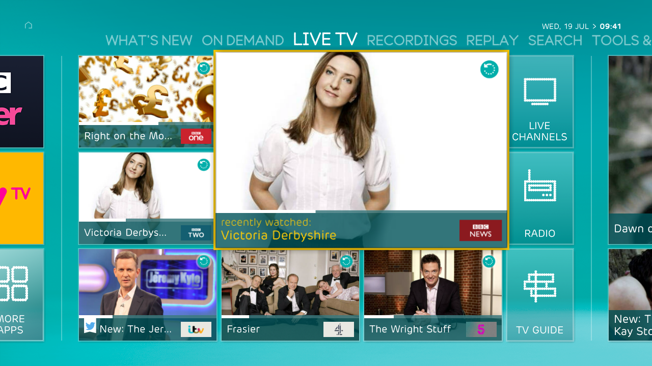 Watching on demand content with ee tv for Tv on demand