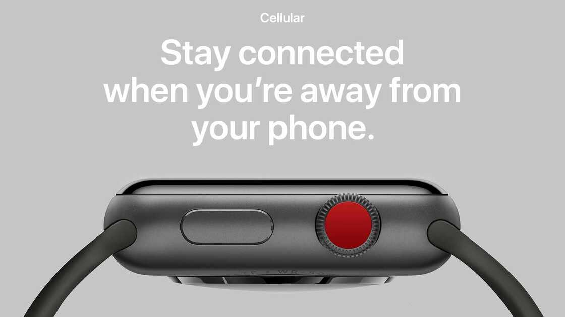 Apple watch series 3 device