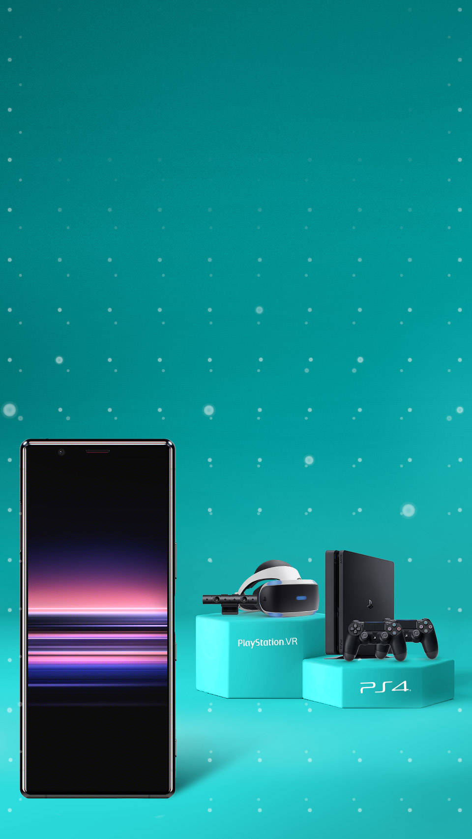 Sony Xperia 5 with Playstation and VR