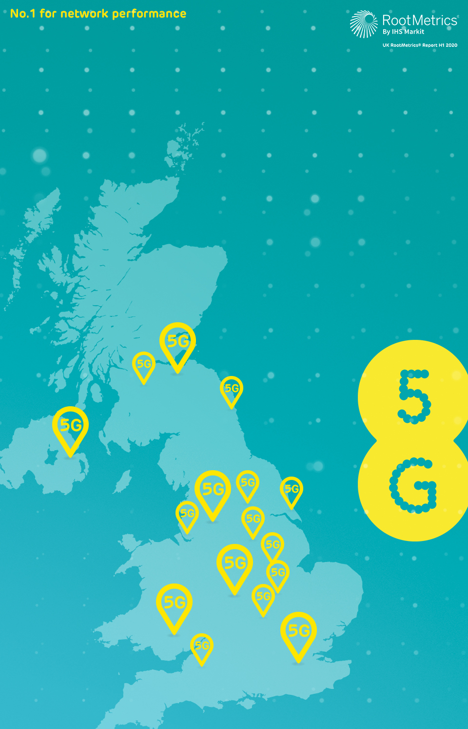 5G coverage on the UK's number one for network performance