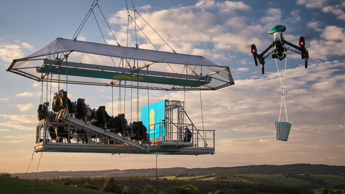 A unique 4GEE Cinema screening 100 feet above a former RAF base