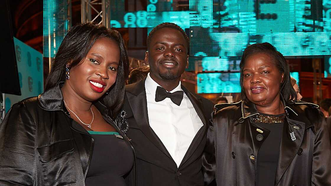 Daniel Kaluuya at the 2018 BAFTAs after winning the EE Rising Star Award