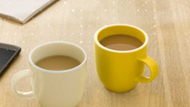 Mugs of coffee