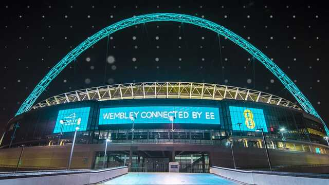 Wembley Stadium, connected by EE