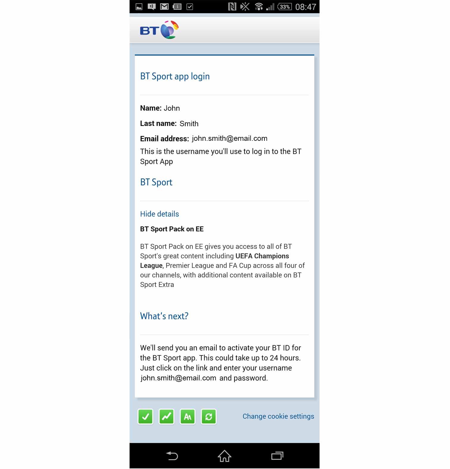 Uk customer account create downloader/downloader - Step 3 Pin Check