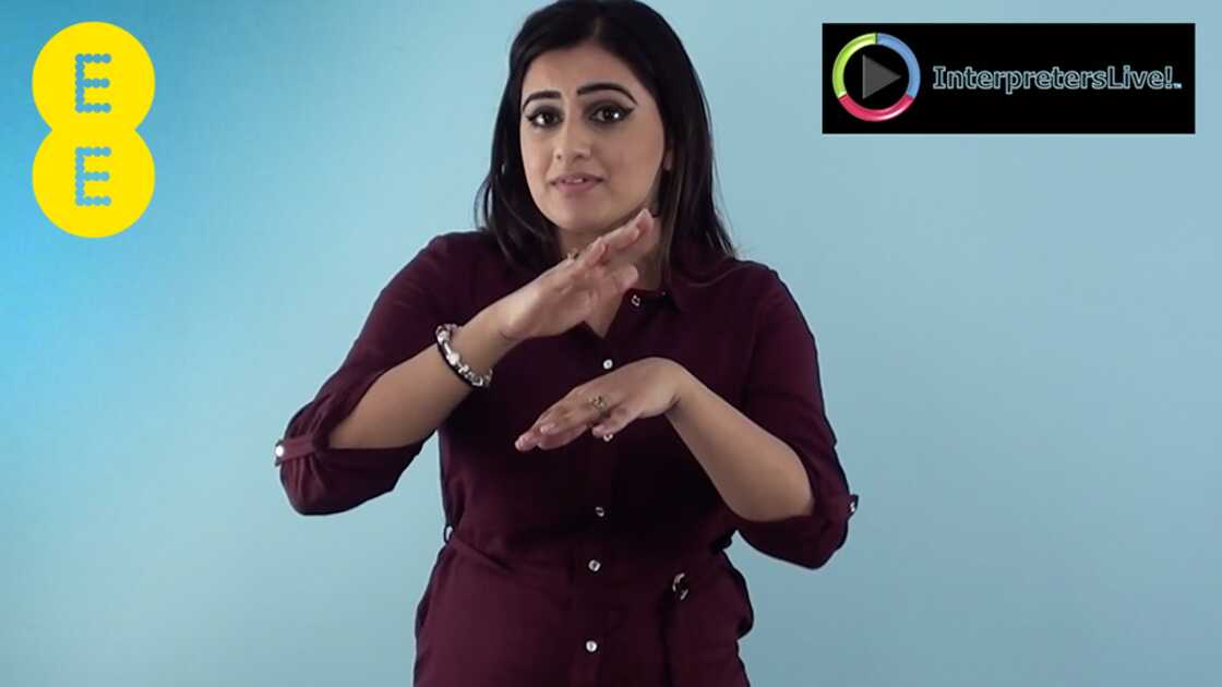 Watch our video explaining the British Sign Language Service